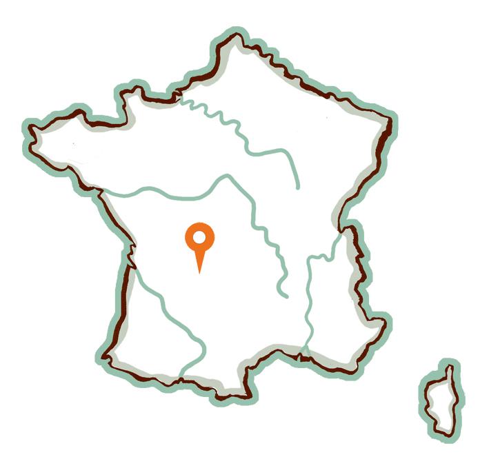 Illustration Salon-La-Tour Carte de France - OUMBI