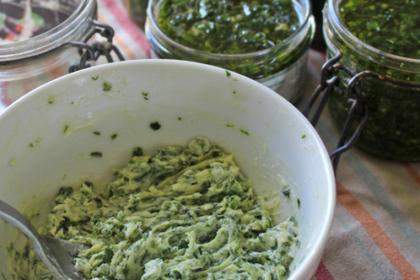 Pesot et beurre d'ail des ours - recette - OUMBI